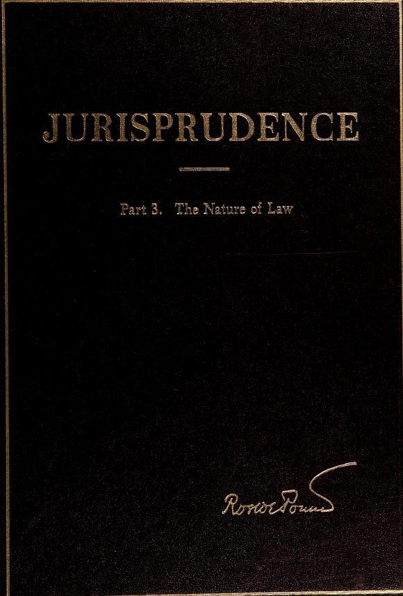 Jurisprudence by Roscoe Pound